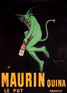 vintage poster | Leonetto Cappiello, Maurin Quina, 1906 ca.