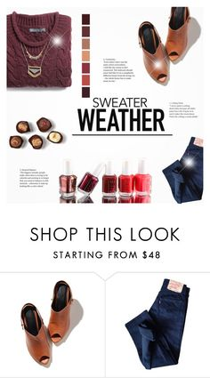 """""""Sweater Weather"""" by littledesigns ❤ liked on Polyvore featuring Levi's, Essie, Winter and sweaterweather"""