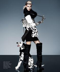 cruella fashion3 Alison Nix Channels Cruella de Vil for Harpers Bazaar Latin America by Jason Kim