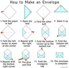 Small Envelope Template How To Make Your Own Origami From Paper