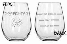 Firefighter Glass  Funny Personalized Etched by WulfCreekDesigns