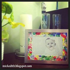 Baby craft with paint and fingerprints!