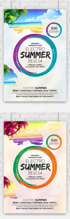 Best Summer Party Flyer Template PSD. Download here: https://graphicriver.net/item/best-summer-party-flyer-/17254252?ref=ksioks