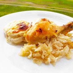 Fitness kuře na zelí - zdravý recept Bajola Gnocchi, Cauliflower, Fitness, Meat, Chicken, Vegetables, Recipes, Food, Cauliflowers