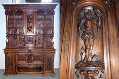 Очень красивый антикварный буфет.19-й век.210/64/277 см. 15000 евро.