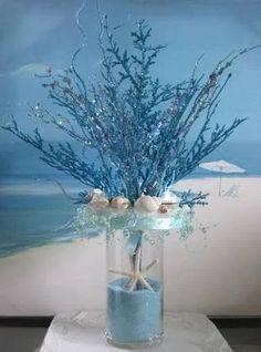 Under the Sea Wedding Centerpieces 9 - Mode und Hochzeit - Beach wedding coral - Wedding Sand, Beach Wedding Reception, Wedding Table, Wedding Ideas, Trendy Wedding, Summer Wedding, Wedding Coral, Seashell Wedding, Wedding Themes