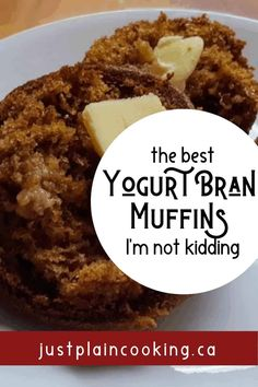 Janet\'s Yogurt Bran Muffins - The Best You\'ll Ever Taste Healthy Muffins, Healthy Snacks, Healthy Recipes, Healthy Fruits, Gourmet Recipes, Baking Recipes, Snack Recipes, Brownie Recipes, Baking Muffins
