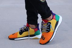 the latest 44920 860e3 Adidas Solar Hu Glide Multicolor Green Pattern, Pharrell Williams, Street  Wear, Solar,