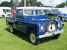 1972 Land Rover series III with a Harvey-Frost Recovery Crane. Every Rover owner should have one.