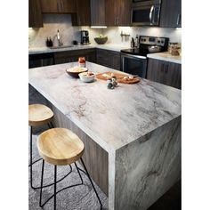 Love the look of stone countertops, but not the price tag? Explore by Formica Group laminate. Click through to order your free sample of Sea Pearl. Cheap Kitchen Remodel, Diy Kitchen, Kitchen Decor, Kitchen Ideas, Kitchen Remodeling, 10x10 Kitchen, Awesome Kitchen, Kitchen Designs, Kitchen Furniture