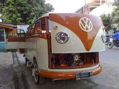 DO YOU LIKE VINTAGE?: Photo Vw Camper Bus, Volkswagen Bus, Campers, Combi Vw T2, Kombi Trailer, T6 California, Vw Vintage, Weird Cars, Crazy Cars