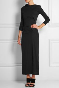 Black stretch-jersey Slips on viscose, elastane Dry clean Alexander Mcqueen Ring, Vivienne Westwood Anglomania, Shopping Day, Victoria Beckham, Dress Up, Dresses For Work, My Style, How To Wear, Clothes