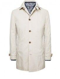 He By Mango Waterproof Cotton-blend Trench Coat