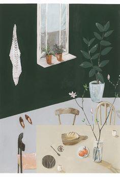 Saar Manche 'Still Life' print