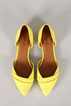 Qupid Pointer-56 Suede Pointy Toe Flat