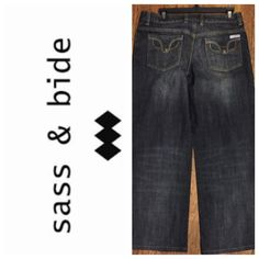 """SASS & BIDE """"SYDNEY"""" DENIMS.      NWOT Missing top snap on front pocket....Inseam 28"""".   Rise 9"""".     Waist 32"""".     100% Cotton.                         TRADES  AUTHENTIC  PAYPAL 1️⃣0️⃣% Off Bundles ⛔️ Accept Offers  Fast Shipping  LOW BALLERS sass & bide Jeans Flare & Wide Leg"""