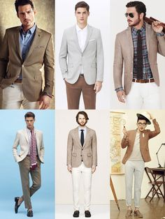 The New Spring/Summer Power Suits: Brown In Linen Summer Weight Suits, Separates Lookbook Inspiration