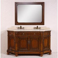 "Check out the Legion Furniture WH3368 68"" Solid Wood Sink Vanity with Travertine Top - Countertop Included priced at $2,398.50 at Homeclick.com."