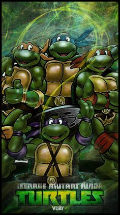 Teenage Mutant Ninja Turtles 1987 Poster, starring Rob Paulsen, Cam Clarke, Barry Gordon and Townsend Coleman