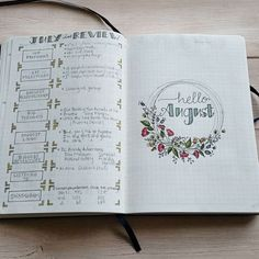 October is only a few days away. How did that happen? Here's a bit of inspiration for you if you're working on setting up your journal for the new month ahead. This is how my August looked. I'm still wrapping up September, but hope to share a flip-through of this month with you soon!