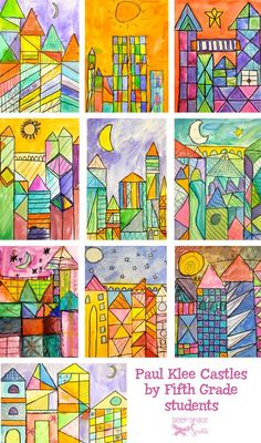 Paul Klee Art Lesson is part of Paul Klee Art Lesson Deep Space Sparkle - Students learn how to practice drawing quick rectangular shapes and paint warm and cool colors into those shapes using Paul Klee art inspiration and Deep Space Sparkle, Art 2nd Grade, Classe D'art, Paul Klee Art, School Art Projects, Art Projects For Adults, Toddler Art Projects, Line Art Projects, Art Education Projects