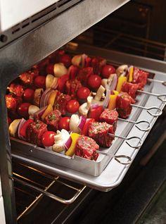 Ensemble à brochettes - Parfait pour la cuisson au barbecue ou au four.