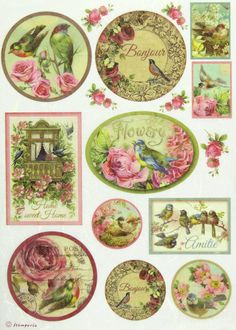 Ricepaper / Decoupage paper, Scrapbooking Sheets Birds and Balcony | eBay
