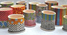 Colorful Bud vase/ sponge holder/ cellphone von chARiTyelise, $42.00
