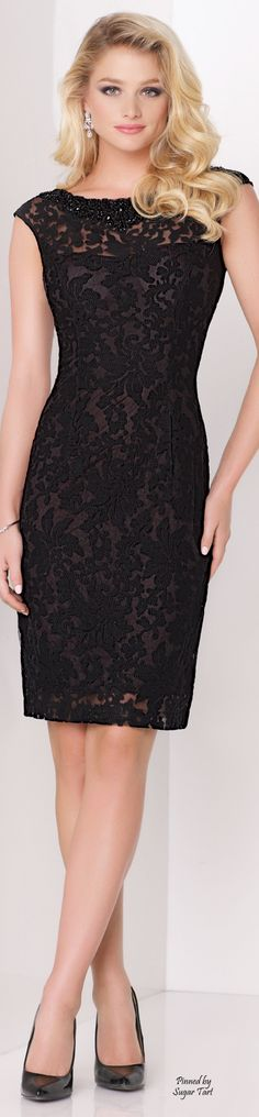 Cap Sleeve Lace Sheath.   women fashion outfit clothing stylish apparel @roressclothes closet ideas