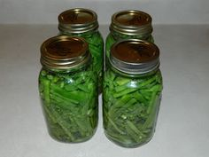 Lise's Log Cabin Life: My First Attempt At Canning Green Beans
