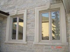 30 Ideas Exterior Window Design Stones For 2019 Exterior Window Molding, Exterior Doors With Glass, Exterior Trim, Exterior Paint, Exterior Design, Window Molding Trim, Interior Window Trim, Exterior Windows, Moldings