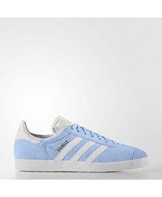 415da450d9f Adidas Gazelle Mens Shoes Clear Sky White Gold Met. Bb5481 Adidas Trainers  Mens