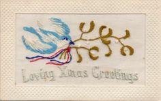 Mistletoe silk card