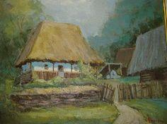 Andrei Branisteanu  - Casa din Tara Motilor Painting, Art, Art Background, Painting Art, Kunst, Paintings, Performing Arts, Painted Canvas, Drawings