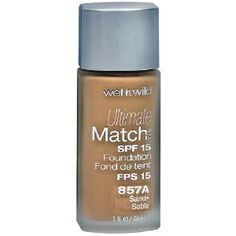 Wet N Wild Ultimate Match Liquid Foundation Sand Glides on weightlessly for sheer-to-medium coverage that's never heavy. Evens out flaws with a silky, semi-matte finish. Contains SPF 15 for the ultimate in anti-aging treatment. Medium Coverage Foundation, No Foundation Makeup, Liquid Foundation, Best Teeth Whitening Kit, Cat Eye Makeup, Anti Aging Treatments, Wet N Wild, Mary Kay, Makeup Tips