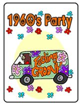 60's fonts | 60 s theme party invitations this 60 s theme party invitation shows a ...