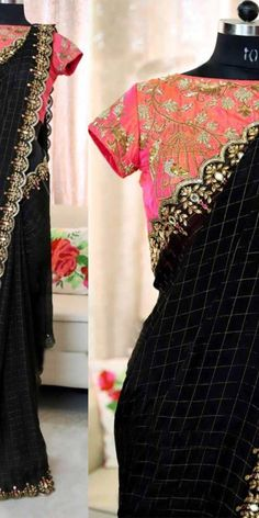 1 new message Bollywood Designer Sarees, Indian Designer Sarees, Indian Sarees, Pearl Work Saree, Plain Saree With Heavy Blouse, Fancy Sarees Party Wear, Bridesmaid Saree, Elegant Fashion Wear, Trendy Sarees
