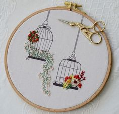 Wonderful Ribbon Embroidery Flowers by Hand Ideas. Enchanting Ribbon Embroidery Flowers by Hand Ideas. Embroidery Stitches Tutorial, Embroidery Flowers Pattern, Creative Embroidery, Simple Embroidery, Hand Embroidery Stitches, Silk Ribbon Embroidery, Embroidery Hoop Art, Hand Embroidery Designs, Crewel Embroidery
