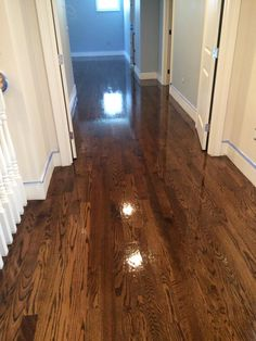 Central Mass Hardwood installed brand new Red Oak hardwood floors with an Antique Brown Stain at a new construction! New floors for a new home!