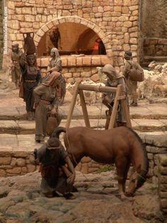 belenistas de la Isla. Fotos Christmas Nativity Scene, Diy And Crafts, Lion Sculpture, Horses, Statue, World, Photography, Christmas Crafts, Holy Land