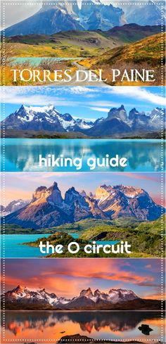 Updated for 2017/2018 hiking season! Torres del Paine trek, Patagonia, Chile, the O circuit. The most complete hiking guide, map, route planning, booking information, distances, campsites in Torres del Paine, transport.