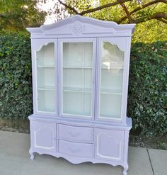 Shabby Chic Lavender Hutch by BAILEYJANAE on Etsy, $650.00