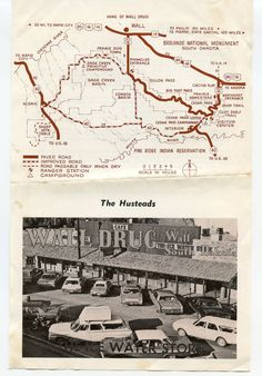 Advertisement for Wall Drug  1960's by GenerationsAgo on Etsy https://www.etsy.com/listing/208771995