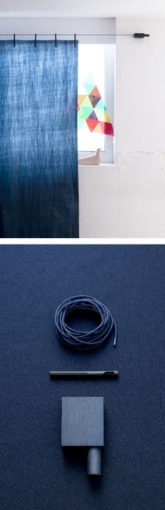 Ready Made Curtain by Kvadrat - The new curtain system designed by Ronan and Erwan Bouroullec #design #colour
