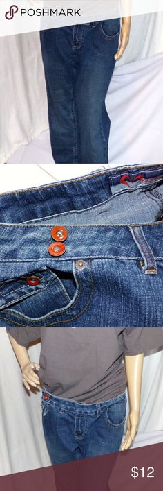 """Wah Jeans Designer Jeans Wah designer Jeans Vintage Denim Jeans This are really pair of jeans and clearly with the designer touchs. The pockets are rounded they zip up and then button and have a nice pull over double button to enhance the look. One pocket has a double pocket with a button so really cool. The appear to be classic jeans with a straight leg no real change in the width of the leg. These are 100% cotton and in excellent used condition MEASUREMENTS MEASUREMENTS Across Waist 18""""…"""