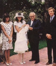 Princess Caroline and Stefano Casiraghi's son Andrea's Christening in 1984.