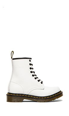Dr. Martens Iconic 8 Eye Boot in White | REVOLVE