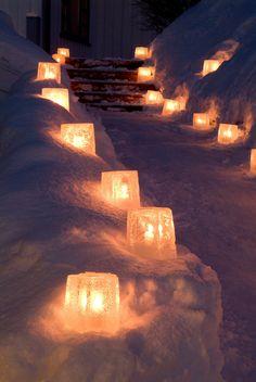 Eissterne - Stimmungsvolle, sternförmige Windlichter aus Eis!