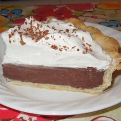 "Chocolate Cream Pie | ""This is an old family recipe my grandmother used to make me when I was a little boy."""