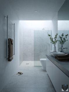 Bathroom on Behance Hawthorne House, Minimal Bathroom, Minimalism, Bathrooms, Bathtub, Behance, Contemporary, Interior, Photos